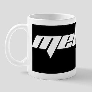 Stadium Blanket MekTek Text White Mug