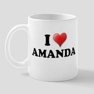 I LOVE AMANDA SHIRT T-SHIRT A Mug