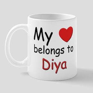 My heart belongs to diya Mug