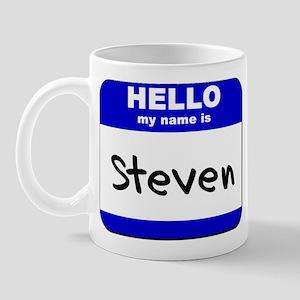 hello my name is steven  Mug