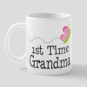 1st Time Grandma Butterfly Mug