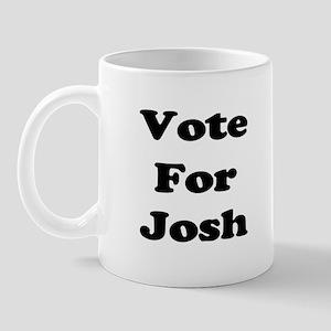 Vote for Josh (Black) Mug