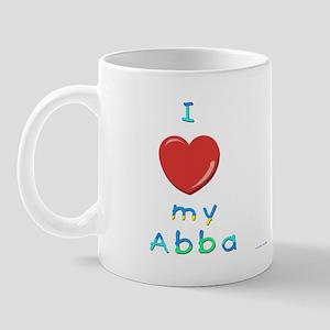 I Love My Abba Mug