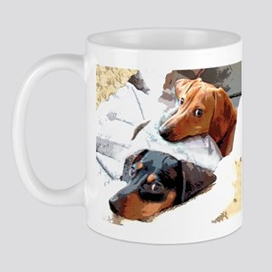 Naptime Love Dachshunds Mug