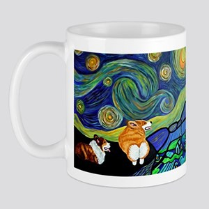Corgi Starry Night Mug Mugs