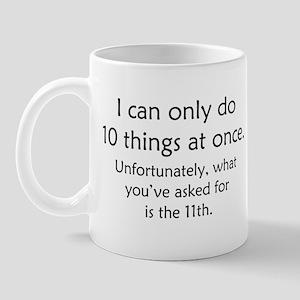 Ten Things At Once Mug