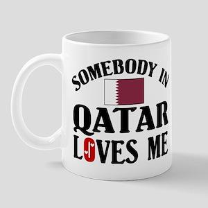 Somebody In Qatar Mug