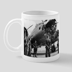 Battle Damaged B-17 Mug