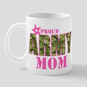 Camo Proud Army Mom Mug