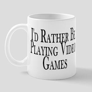 Rather Play Video Games Mug