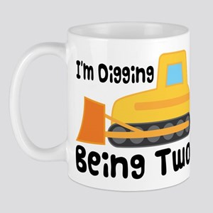 Personalized 2nd Birthday Bulldozer Mug