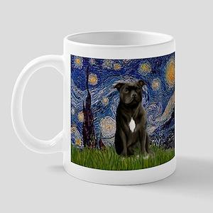 Starry-Am.Staffordshire (blk) Mug