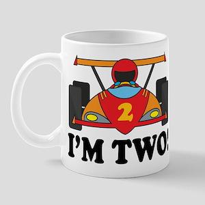 Racing Car 2nd Birthday Mug