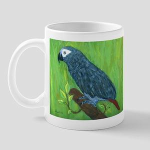 African Grey Parrot Mug