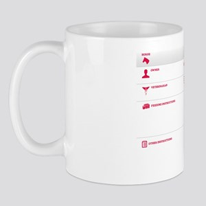 The Horse Stall Information Dry Erase B Mug