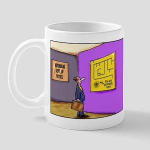 Heisenberg Department of Physics mug (left-handed)
