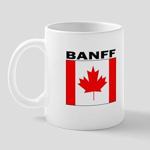 canbanffwhtflg Mugs