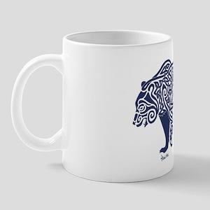 Bear Knotwork Blue Mug