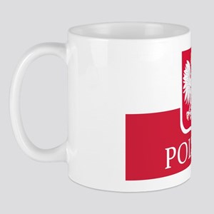 Polska Eagle Flag Coat of Arms White Ea Mug