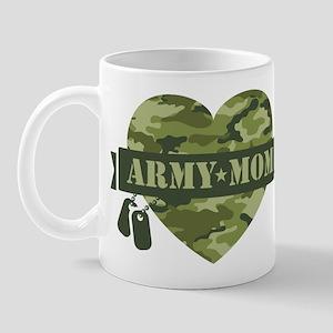 Camo Heart Army Mom Mug