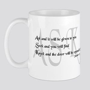 Ask, Seek, Knock Mug