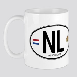 Netherlands Intl Oval Mug