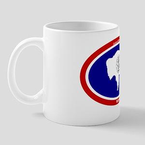 Wyoming State flag oval Mug