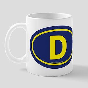 """D"" Euros Mug"