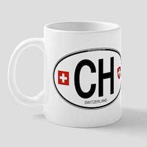 Switzerland Euro Oval Mug