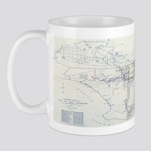 LA antique map. Mug