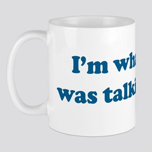 2-Willis blue text Mug