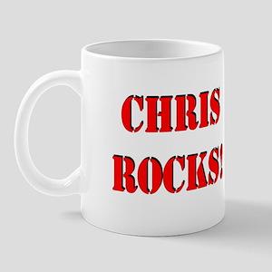 Chris Rocks! (Red) Mug