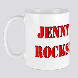 Jenny Rocks (Red) Mug