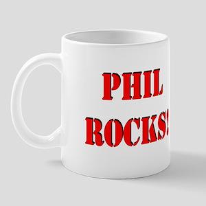 Phil Rocks (Red) Mug