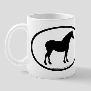 Draft Horse Oval Mug