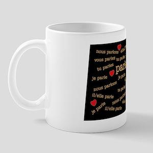 I heart conjugation-French Mug
