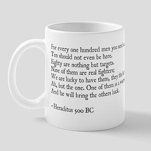 Heraclitus Quote Mug