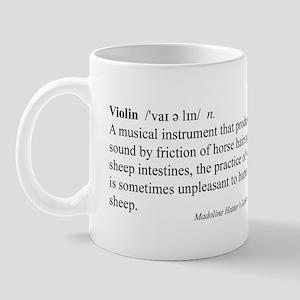 Humorous Violin Definition Mug