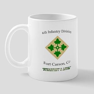 "4th inf div ""Steadfast and lo Mug"