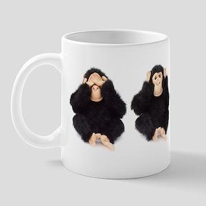 Hear, See, Speak No Evil Monkey Mug