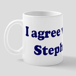 I agree with Stephen Mug