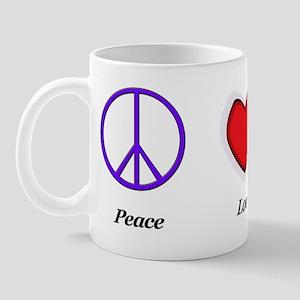 peace love rescue cropped Mug