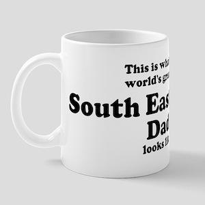 South East Asian dad looks li Mug
