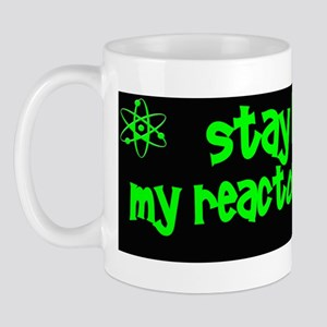 funny nuclear radiation reactor sticker Mug