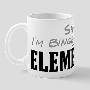 Shhh... I'm Binge Watching Elementary Mug