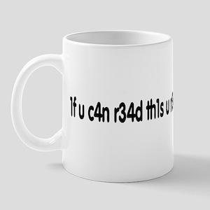 1f u c4n r34d th1s u r34lly n33d t0 g37 l41d Mug