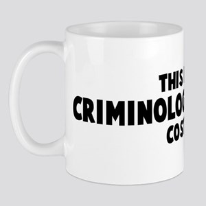 Criminology Teacher costume Mug