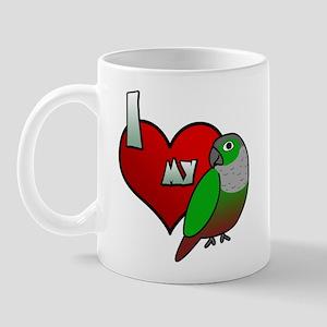 I Love My Green-Cheeked Conure Mug