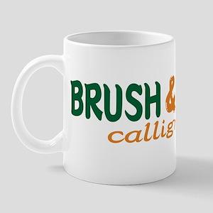 Brush writting B&N Mug