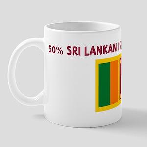 50 PERCENT SRI LANKAN IS BETT Mug